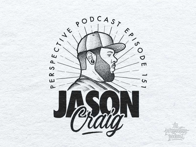 Jason Craig Portrait Illustration Podcast Art typography art procreate handdrawn design podcast illustration hand lettering lettering