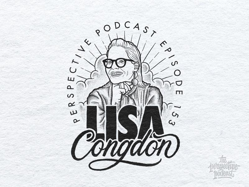 Lisa Congdon Portrait Illustration Podcast Art drawing typography art procreate handdrawn design podcast illustration hand lettering lettering