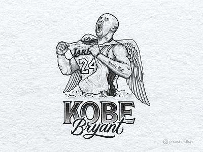 Kobe Bryant Tribute Portrait Illustration drawing typography art procreate handdrawn design podcast illustration hand lettering lettering