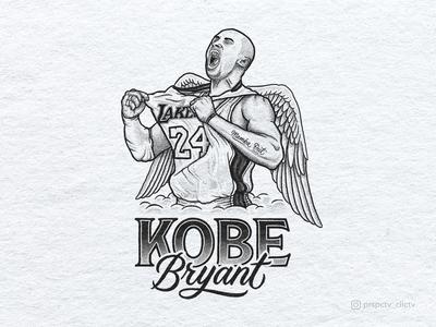 Kobe Bryant Tribute Portrait Illustration