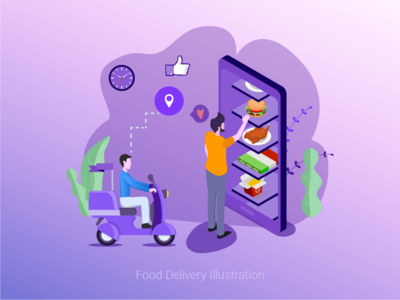 Food Delivery Illustration