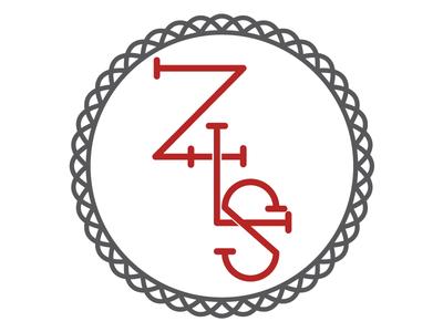 Zion Monogram monogram z l s badge red monoline 80grey school church cross