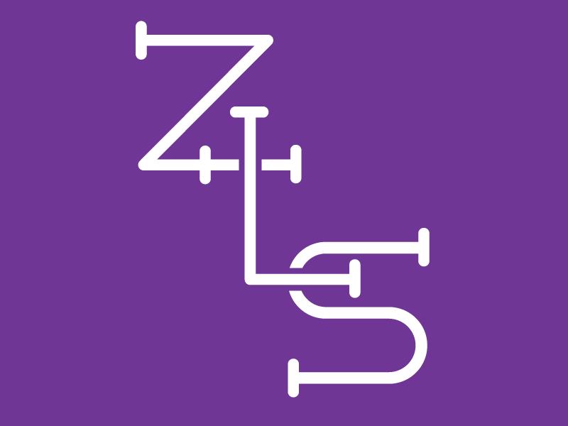 Zion Final Logo monogram z l s purple monoline church cross typography type