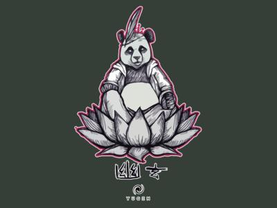 Panda in lotus flower Custom T-shirt/Apparel Design