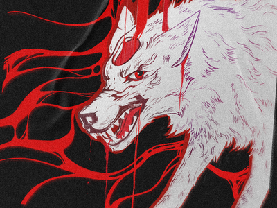 It is only Chemical distressed chemical the devil wears prada wolf photoshop digital painting digital illustration artwork procreate drawing illustration digital
