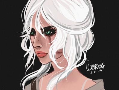 Ciri Fan Art, The Witcher