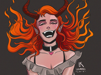 Laughing devil