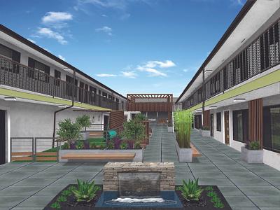 Villa Courtyard illustration