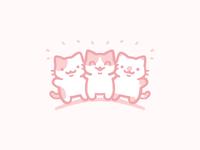 Good Buddies characters pink cute animals flat color cute art kitty cat illustrator cute