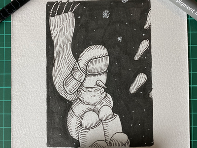 Inktober day 11 (Snow)