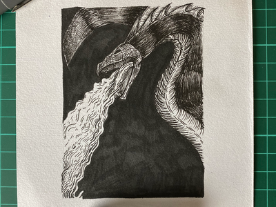 Inktober day 12 (Dragon)