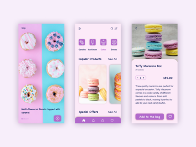 Sweets Store Mobile App Concept