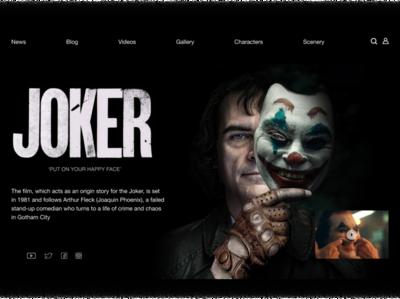 Joker Movie Website Concept