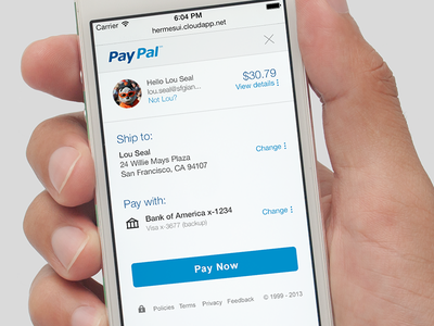 PayPal Checkout Redesign checkout paypal payment mobile payments responsive design iphone