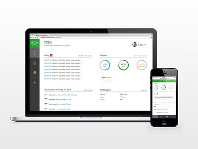 Yoda dashboard responsive mobile task management engineer