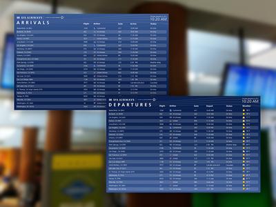 US Airways flight information displays