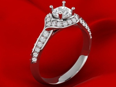 Unique MAMJAN Engagement Ring 3D Model
