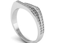 Double Split Crown Ring 3D Model