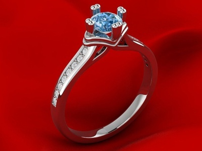 Engagement Crown Ring 3D Model