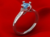 Engagement Crown Ring 3D Model