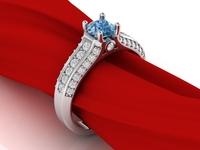 Luxury Engagement Ring 3D Model
