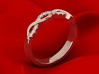 Luxury Engagement Ring 3D Model