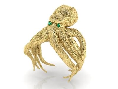 Octopus Ring 3D model