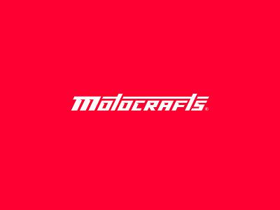 Motocrafts - logo design identity modern motorcycle mechanic typography logo branding