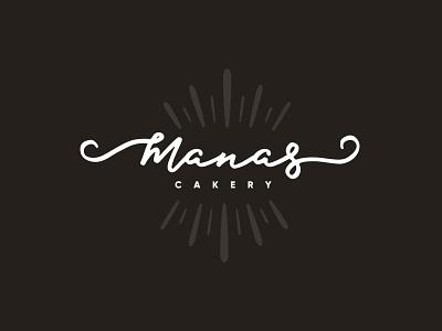 Manas Cakery - Logo illustration design art logodesign logomark branding typography logo 2d