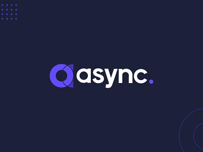 Async Logo gif animation logomark logodesign identity icon branding logo design