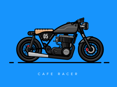 The Ghost :D  2d vector design illustration race beast caferacer motorcycle bike