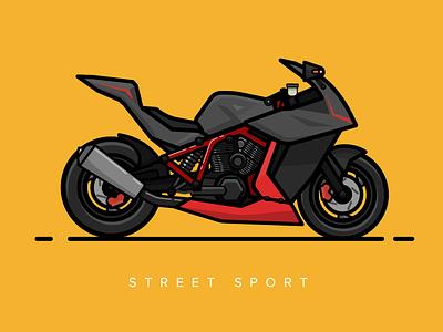 The Beast streetsport vector race motorcycle illustration design sports bike beast 2d