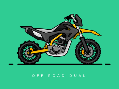 The Monster vector dualpurpose mountainer dirtbike offroad motorcycle illustration design bike beast 2d