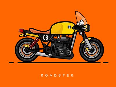 The Brutè vector race motorcycle illustration design caferacer bike beast 2d