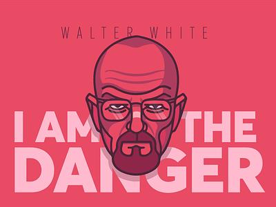 Walter white typography lettering flat character art 3d 2d design illustration