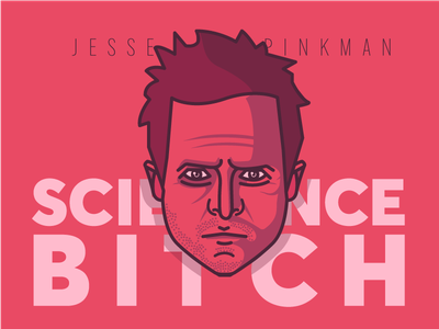 Jesse Pinkman typography lettering illustration flat design character art 3d 2d