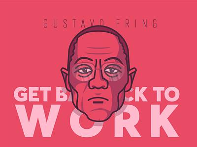 Gus Fring typography lettering illustration flat design character art 3d 2d