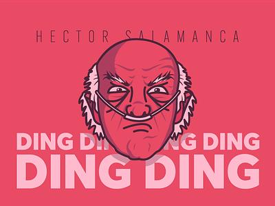 Hector Salamanca typography flat design smile signature profile loop character avatar 2d