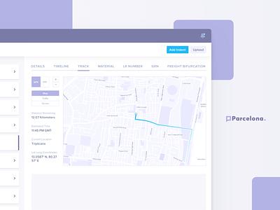 Logictics App - Truck location tracker freight track api map shipping product services logistics saas web app ux ui design