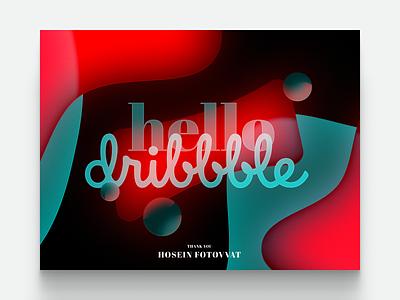 Hello, dribbble~ abstraction thankyou invitation hello dribbble debut