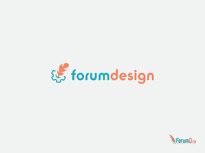Logo Redesign blue orange gear feather support design forum redesign logotype logo