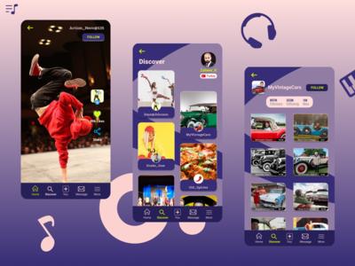 S-Tok | Video Sharing Platform #1 design adobe xd figma photoshop adobe illustrator ui ux figmadesign