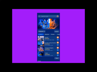 Zoom + Mobile App ux design ui design movie app movies app movies branding xd ux after effect ui mobile ios android app xd design