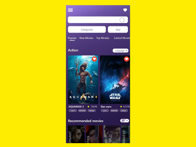 T.V Serive Mobile App t.v app movies movie app movies app ux design ui design branding ux design ui after effect mobile ios android app xd design