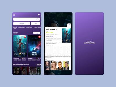 T.V Serive Mobile App ux design ui design t.v app movie app movies app ux design ui movies branding mobile ios android app xd design