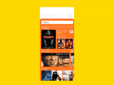 Movie cart Mobile App movie cart movies app movie app movies ux design ui design ux design ui after effect mobile ios android app xd design