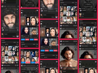 LIKE: Social Media App full ux design ui design branding design ux ui after effect mobile ios android app xd design