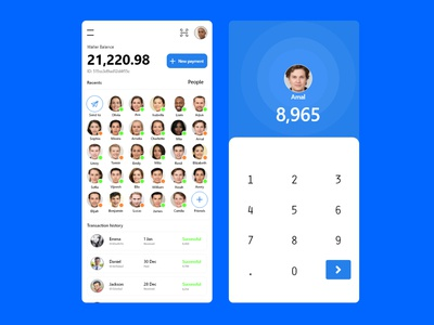 Transaction App Design pay ux design ui design figma branding mobile ios android app xd design