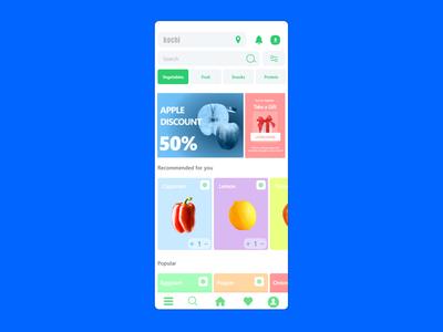 Daily need purchase App ux desgin ui design figma branding mobile ios android app xd design