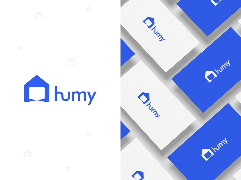 Logo Design for humy typography app logo icon design abstract logo simple minimal logo simple logo modern logo home logo logo design logo mark logos logo illustrator identity logo process branding flat vector creative logo